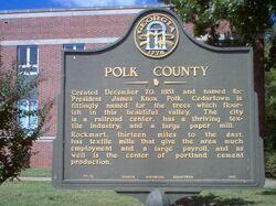 Polk County Sign, Cedartown, Georgia