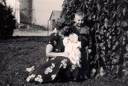 Doris Irene Hunt with sons