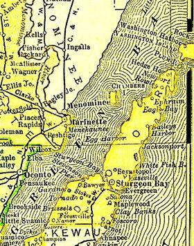 Door county, wisconsin, 1895