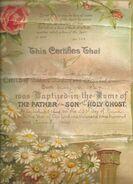 John Earl Borland baptism in 1924
