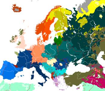 Languages of Europe no legend
