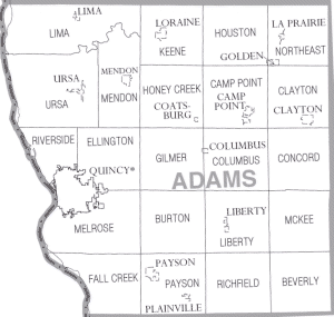 Map of Adams County Illinois