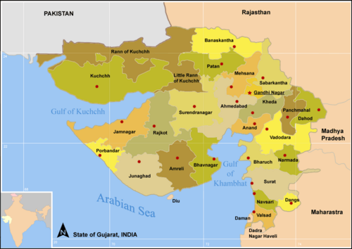 Map GujDist All