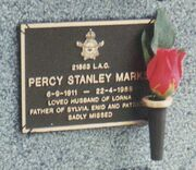 Percy Stanley Marks (1911- 1988) tombstone