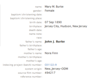 Burke-Mary 1890 birth index