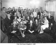 Sigrid Katarina Sundin (1897-1986) and Ruby Margaret Olson (1924-2011) with extended family