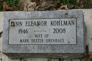 Lynn Eleanor Kohlman tombstone
