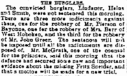 Lindauer robbery on June 10, 1881 in the Jersey Journal