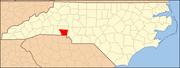 North Carolina Map Highlighting Gaston County.PNG