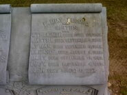Aaron Cooper Baker memorial stone detail B