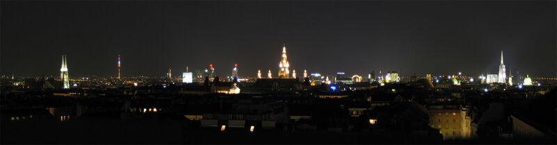 Vienna Panorama at Night