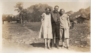 Stella S. Jensen (1892-1985) Severs and Leif Jensen (1886-1955) and Pearl Mae Jensen (1889-1970) McCoy at the Elk Falls ranch in Colorado circa 1925