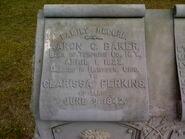 Aaron Cooper Baker memorial stone detail A