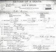 Death Certificate Peter Bremer