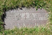 Headstone Lynch Mathias and Agnes