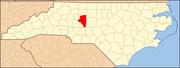 North Carolina Map Highlighting Davidson County.PNG