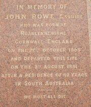 John rowe grave script