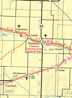 Map of Gray Co, Ks, USA