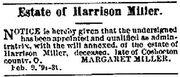 Harrison Miller Estate Notice 01