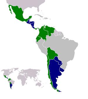 Mapa - Paises voseantes