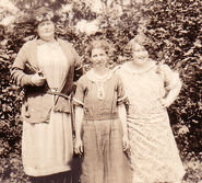 Margaret Piatt (1879-1952); Bertha Janette Piatt (1887-1987); and Nora Belle Conklin (1902-1963) in Westbrookville, New York in July of 1927