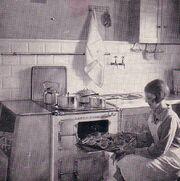 Edith, 26, demonstrating the new 'EBE-spisen' in director Bergström´s kitchen.