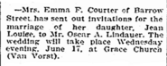 Lindauer-Courter 1903 wedding