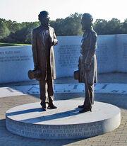 Lincoln and Davis Statue