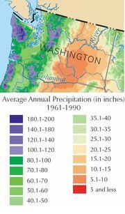 Wa rain map