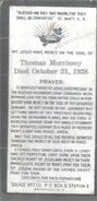 Morrissey-Thomas 1928 funeral card