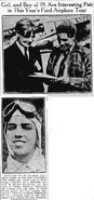 Eddie Schneider and Nancy Hopkins in the Newark Advocate, September 16, 1930
