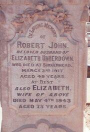 Bob & liz underdown grave