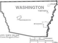 Map of Washington Parish Louisiana With Municipal Labels