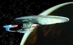 Enterprise D Orbit