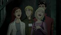 Claire and Annie joke around