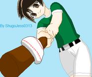 Akira Kazami Baseball Outfit ponytail
