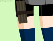 Akira's bo staff on her leg