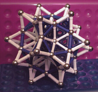 Stellated Rhombic Triacontahedron (plus panels) - L