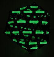 Spiral sphere zigzag glow