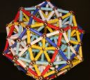 Dodecahedron composed of 5 wobbly cubes