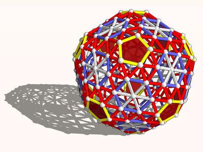 Snub exp truncated icosahedron model