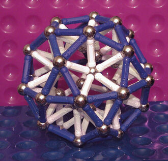 Icosidodecahedron (rod support) - L