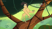 Naked jungle man