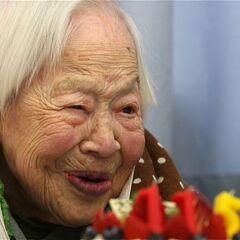Misao Okawa at age 115