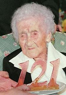 File:Jeanne Calment- World's Oldest Person Ever! Died on August 4, 1997 at age 122 years, 164 days old..jpg