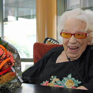Geertje Kuijntjes at the age of 111.