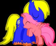 Bdps joe bloom pony hug by creshosk-d55tkxr
