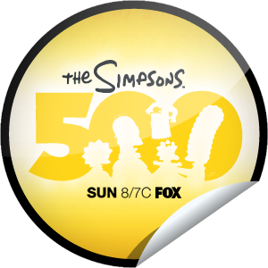 File:The Simpsons 500th Episode Sticker.png