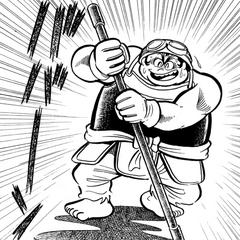 Musashi dons his iconic custom armour