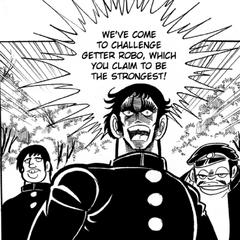 Ryuji challenges the Getter crew